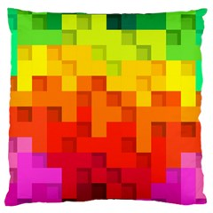 Abstract Background Square Colorful Large Cushion Case (one Side)