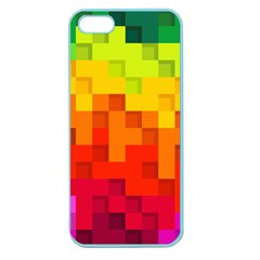 Abstract Background Square Colorful Apple Seamless Iphone 5 Case (color)