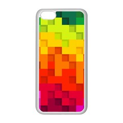 Abstract Background Square Colorful Apple Iphone 5c Seamless Case (white)