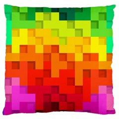Abstract Background Square Colorful Standard Flano Cushion Case (two Sides)