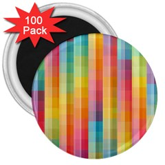 Background Colorful Abstract 3  Magnets (100 Pack)