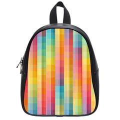 Background Colorful Abstract School Bag (small)