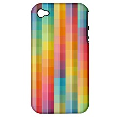 Background Colorful Abstract Apple Iphone 4/4s Hardshell Case (pc+silicone)