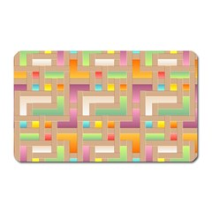 Abstract Background Colorful Magnet (rectangular)