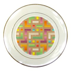 Abstract Background Colorful Porcelain Plates