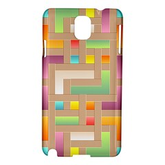 Abstract Background Colorful Samsung Galaxy Note 3 N9005 Hardshell Case