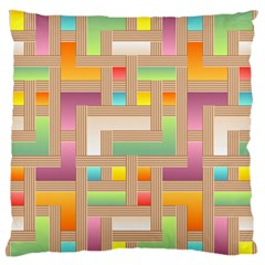 Abstract Background Colorful Standard Flano Cushion Case (two Sides)