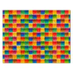 Background Colorful Abstract Rectangular Jigsaw Puzzl