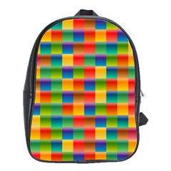 Background Colorful Abstract School Bag (xl)