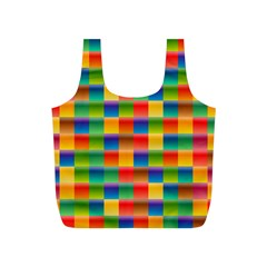 Background Colorful Abstract Full Print Recycle Bags (s)