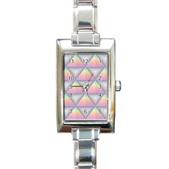 Background Colorful Triangle Rectangle Italian Charm Watch