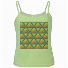Background Colorful Triangle Green Spaghetti Tank