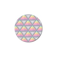 Background Colorful Triangle Golf Ball Marker