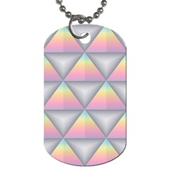 Background Colorful Triangle Dog Tag (two Sides)