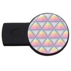 Background Colorful Triangle Usb Flash Drive Round (4 Gb)