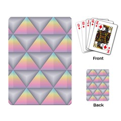 Background Colorful Triangle Playing Card