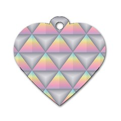 Background Colorful Triangle Dog Tag Heart (one Side)