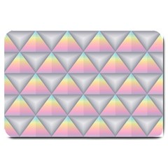 Background Colorful Triangle Large Doormat