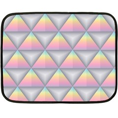 Background Colorful Triangle Double Sided Fleece Blanket (mini)