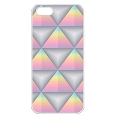 Background Colorful Triangle Apple Iphone 5 Seamless Case (white)