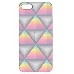 Background Colorful Triangle Apple Iphone 5 Hardshell Case With Stand by Nexatart