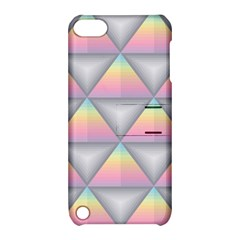 Background Colorful Triangle Apple Ipod Touch 5 Hardshell Case With Stand