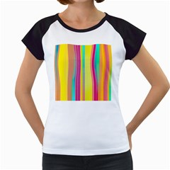 Background Colorful Abstract Women s Cap Sleeve T