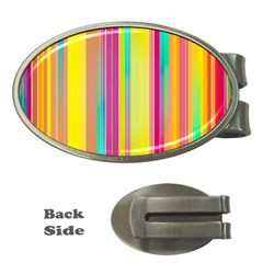Background Colorful Abstract Money Clips (oval)