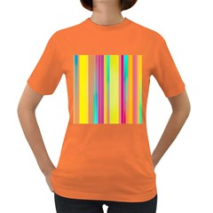 Background Colorful Abstract Women s Dark T Shirt
