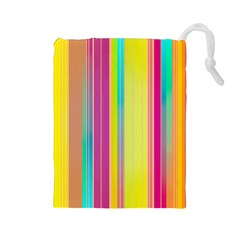 Background Colorful Abstract Drawstring Pouches (large)