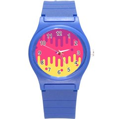 Background Image Round Plastic Sport Watch (s)