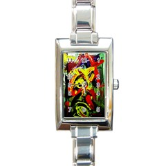 437241213103536   Bread And Fish Rectangle Italian Charm Watch by bestdesignintheworld
