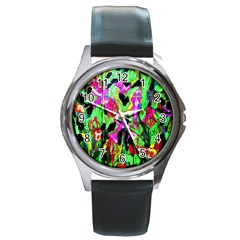 Spring Ornaments 2 Round Metal Watch