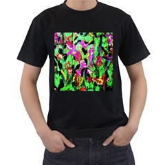 Spring Ornaments 2 Men s T Shirt (black) (two Sided)
