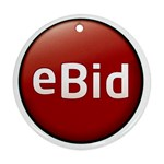 0ebid_logo1320-2 Round Ornament (Two Sides)