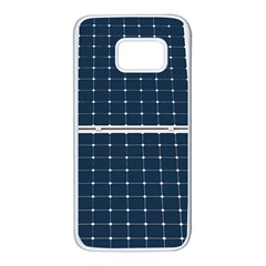 Solar Power Panel Samsung Galaxy S7 White Seamless Case