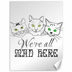 Funny Cats  We Are All Mad Here Canvas 36  X 48   by FunnyCow