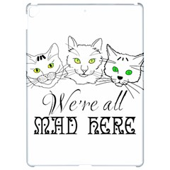 Funny Cats  We Are All Mad Here Apple Ipad Pro 12 9   Hardshell Case