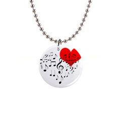Singing Heart Button Necklaces