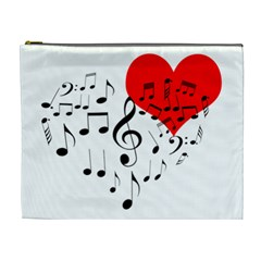 Singing Heart Cosmetic Bag (xl) by FunnyCow
