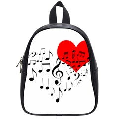 Singing Heart School Bag (small) by FunnyCow
