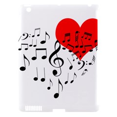 Singing Heart Apple Ipad 3/4 Hardshell Case (compatible With Smart Cover) by FunnyCow