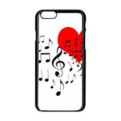 Singing Heart Apple Iphone 6/6s Black Enamel Case by FunnyCow