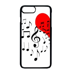Singing Heart Apple Iphone 8 Plus Seamless Case (black)