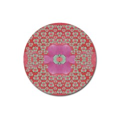 Fantasy Flowers In Everything That Is Around Us In A Free Environment Magnet 3  (round)