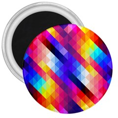 Abstract Background Colorful Pattern 3  Magnets
