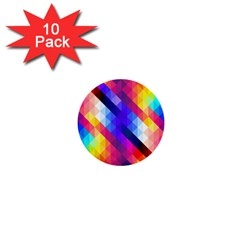 Abstract Background Colorful Pattern 1  Mini Buttons (10 Pack)