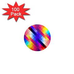 Abstract Background Colorful Pattern 1  Mini Magnets (100 Pack)