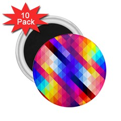 Abstract Background Colorful Pattern 2 25  Magnets (10 Pack)