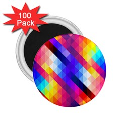 Abstract Background Colorful Pattern 2 25  Magnets (100 Pack)